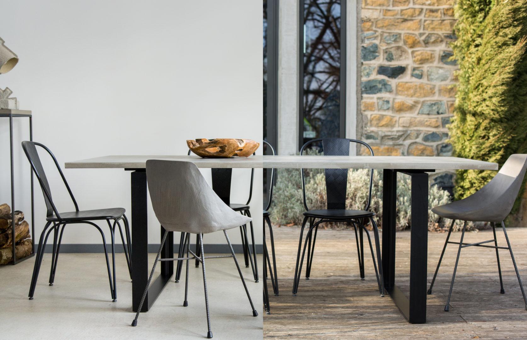 Table béton Interieur Exterieur- Alps - Dining Table - LYON BETON LINATELIER Nantes