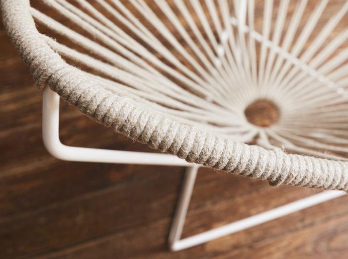fauteuil acapulco enfant tressage en lin boqa
