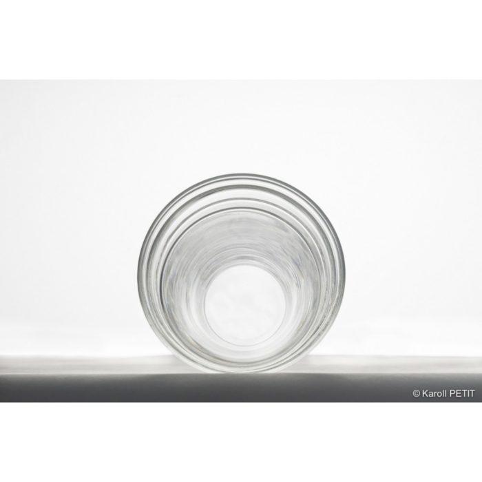 jeu de 6 verres gigogne verre&design L'inatelier. Art de la table. décoration et meuble artisanat contemporain fabriqué en france. Verres à eau