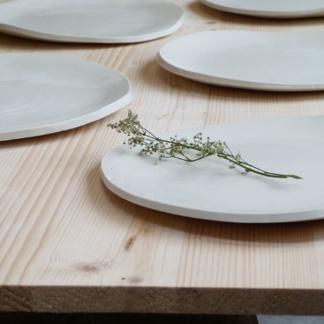 assiette ceramique plate - porcelaine - diametre 24 cm 25 cm