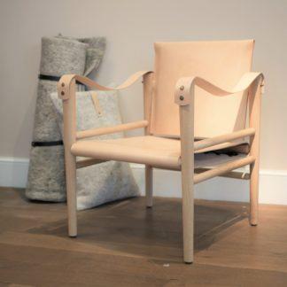 fauteuil cuir et bois design structure en chene temps libre