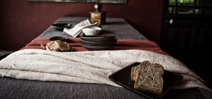 nappe en lin L'INATELIER Couleur Chanvre fibres naturelles Nantes