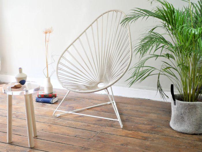 fauteuil acapulco BOQA en lin français_L'Inatelier Nantes_ Design et artisanat français_mis en situation