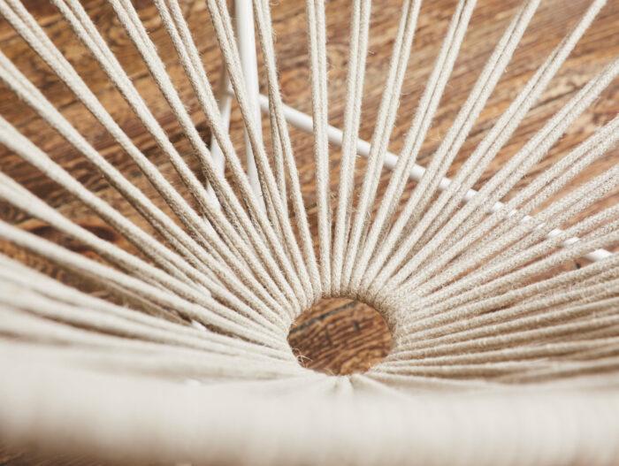 détail fauteuil acapulco en lin boqa