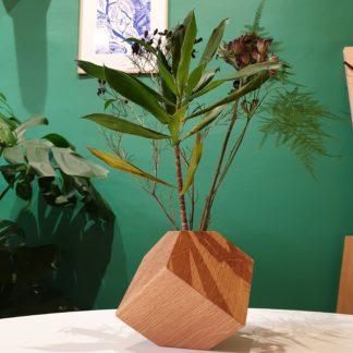 vase chene cubik-creation-design-ebeniste- l'INATELIER Nantes