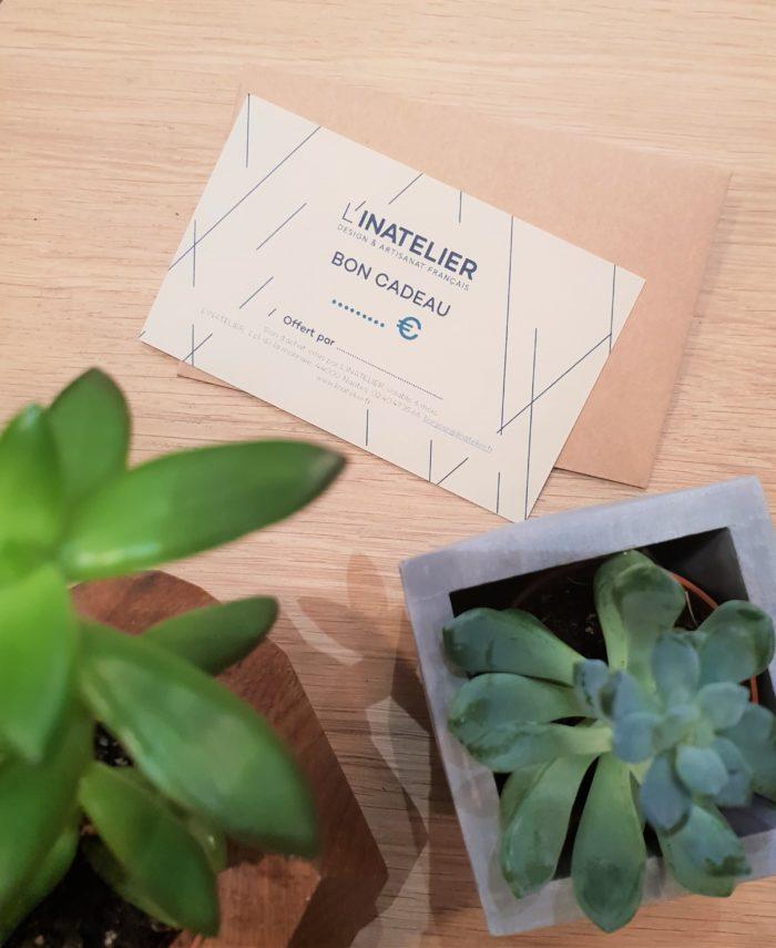 Carte cadeau design et artisanat français L'INATELIER NANTES