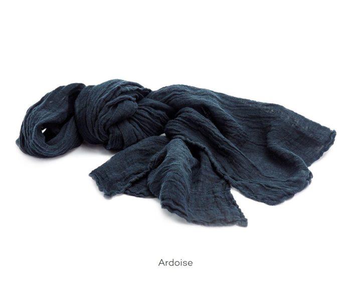Chèche_Echarpe_scarf_couleur chanvre_Ardoise_L'Inatelier_Nantes__mode homme_femme_textile