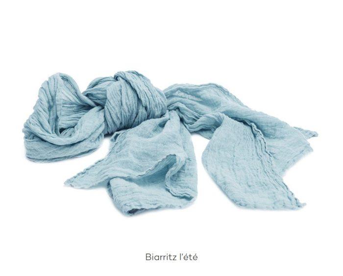 Chèche_Echarpe_scarf_couleur chanvre_Biarritz L'Eté_L'Inatelier_Nante_mode homme_femme_textiles
