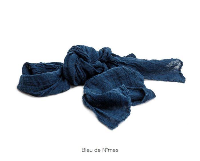 Chèche_Echarpe_scarf_couleur chanvre_Bleu de Nîmes_L'Inatelier_Nantes_mode homme_femme_textile