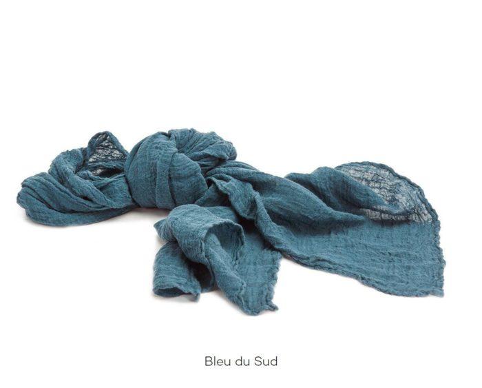 Chèche_Echarpe_scarf_couleur chanvre_Bleu du Sud_L'Inatelier_Nantes_mode homme_femme_textile