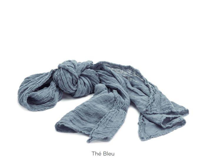 Chèche_Echarpe_scarf_couleur chanvre_Thé Bleu_L'Inatelier_Nantes_mode homme_femme_textile
