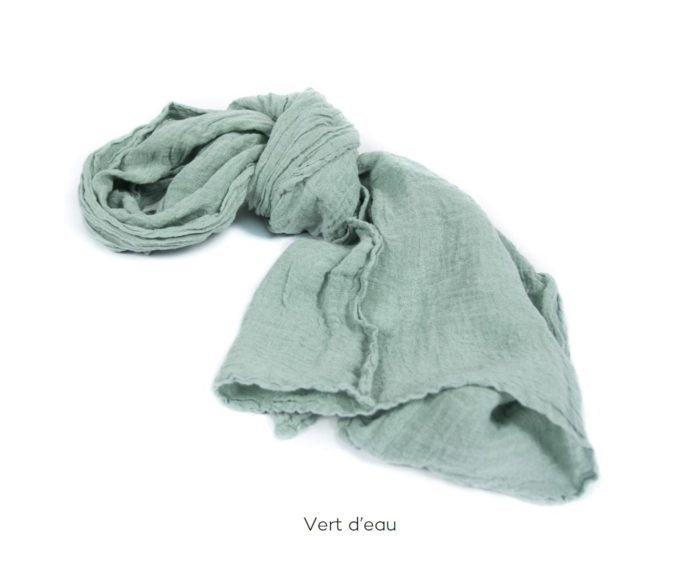 Chèche_Echarpe_scarf_couleur chanvre_Vert d'eau_L'Inatelier_Nantes_mode homme_femme_textile