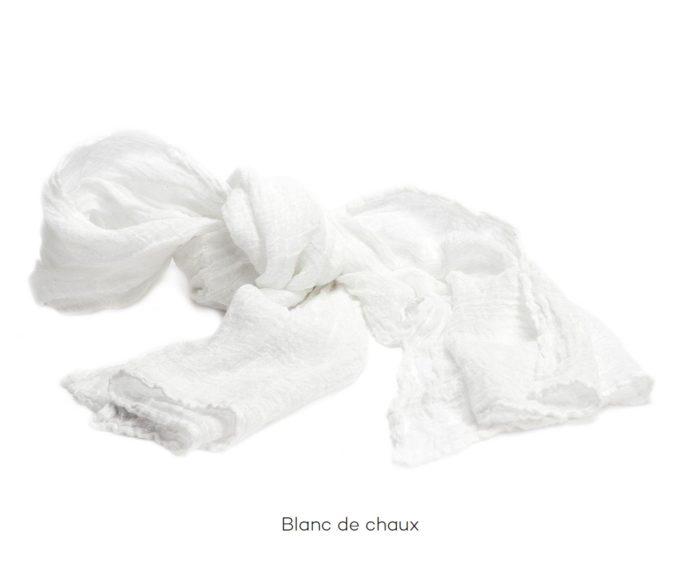 Chèche_Echarpe_scarf_couleur chanvre_blanc de chaux_L'Inatelier_Nantes__mode homme_femme_textile