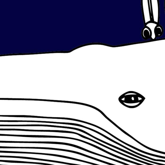 Détail sérigraphie la grande Bleue - Artiste Gwen Guegan L'INATELIER NANTES