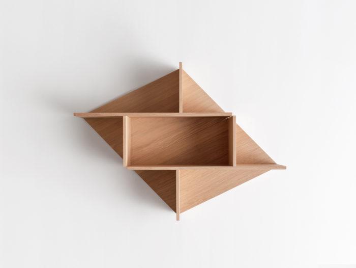 Combinaison horizontale Etagère en bois massif fond chêne naturel Kim Drugeot Manufacture pour L'INATELIER Nantes Design et artisanat français- GENERIQUE