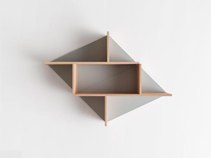 Combinaison horizontale Etagère en bois massif fond personnalisable Kim Drugeot Manufacture pour L'INATELIER Nantes Design et artisanat français- GENERIQUE