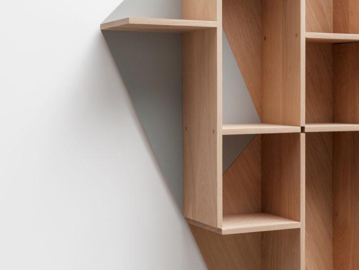 zoom Etagère en bois massif fond personnalisable Kim Drugeot Manufacture pour L'INATELIER Nantes Design et artisanat français- GENERIQUE
