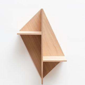 Etagère en bois massif avec fond chene naturel Kim Drugeot Manufacture pour L'INATELIER Nantes Design et artisanat français- GENERIQUE