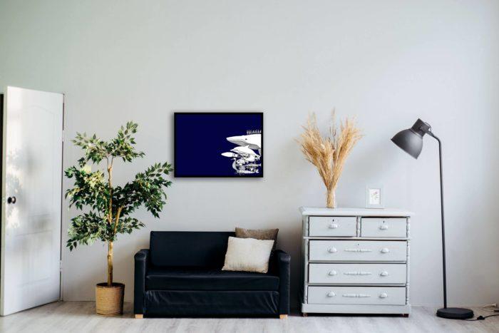 La grande bleue en situation - Artiste Gwen Guegan ©Photo Alexandra Gorn_Unsplash - L'INATELIER NANTES