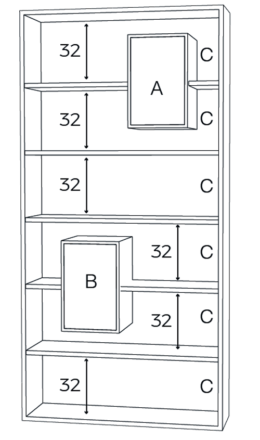 bibliothèque Mixage 100 plan drugeaot manufacture L'INATELIER