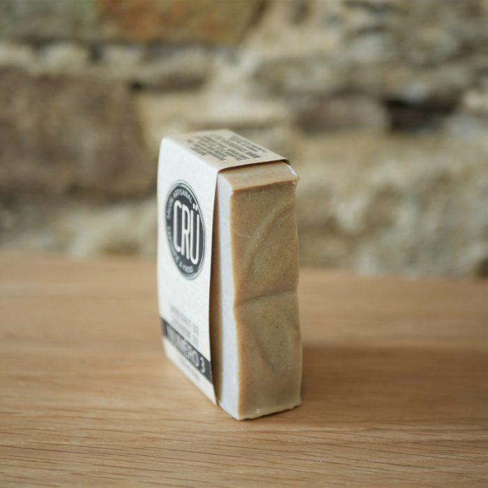 Savon beurre de karité bio et cardamome bio CRU numéro 3 écologique, éthique, artisanal et zéro déchet, tranche à l'INATELIER Nantes