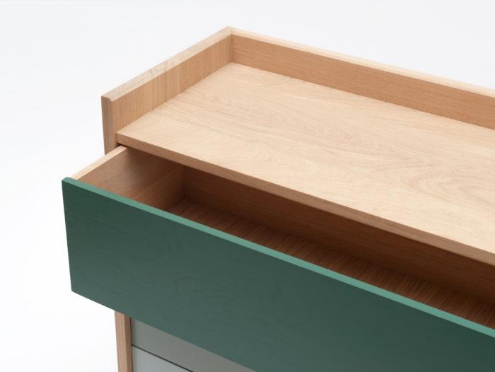 Commode Bric - Drugeot Manufacture - 3 tiroirs - L'Inatelier Nantes - zoom tiroir ouvert
