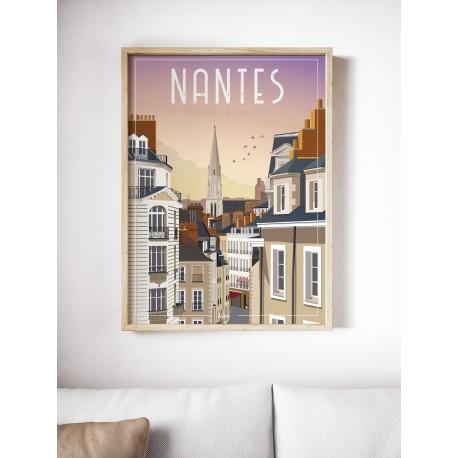 affiche-nantes-jour - toit, toi mon toit - WIM - L'inatelier Nantes - tirage limité