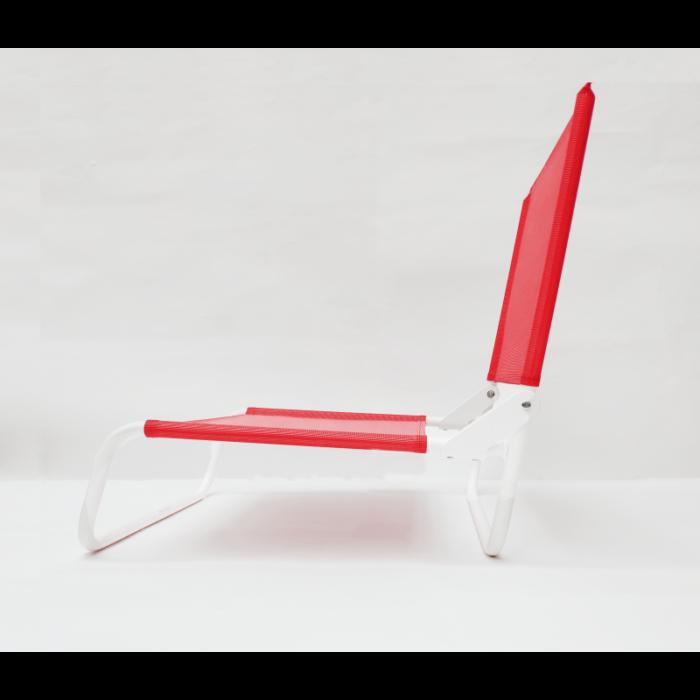 la-chaise-de-plage-rouge profil _ La chaise Française _ L'Inatelier Nantes Design été