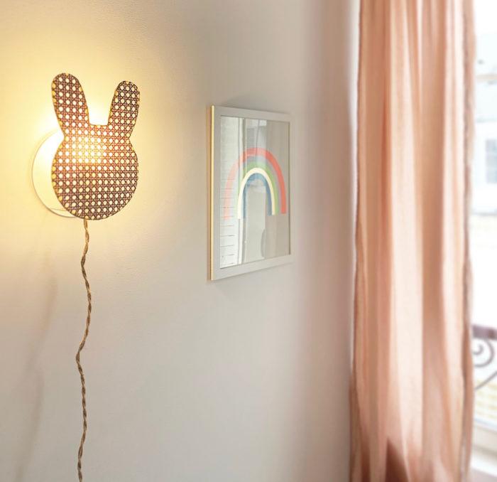 LAMPE_suspension_lapin_cannage_enfant_anso design_Anne-sophie Boucard_L'INATELIER_nantes_boutique déco_décoration_luminaire_mobilier_artisanat_français_contemporain_en situation