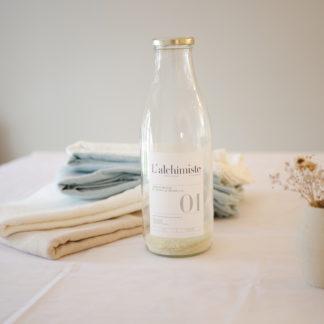 Lessive liquide écologique_zéro déchat_rechargeable_naturel_savon de marseille_L'Alchimiste_soin du linge_maison_déco_L'Inatelier_Nantes