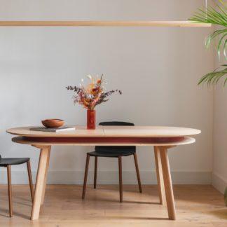 Table ovale extensible PARATI, table de salle à manger en chêne massif avec rallonge - drugeot manufacture - L'Inatelier - Nantes - déco - table repas-extensible-personnalisable-design-plateau-made in france-fabrication artisanale-anjou-ecoresponsable-boutique déco-interieur