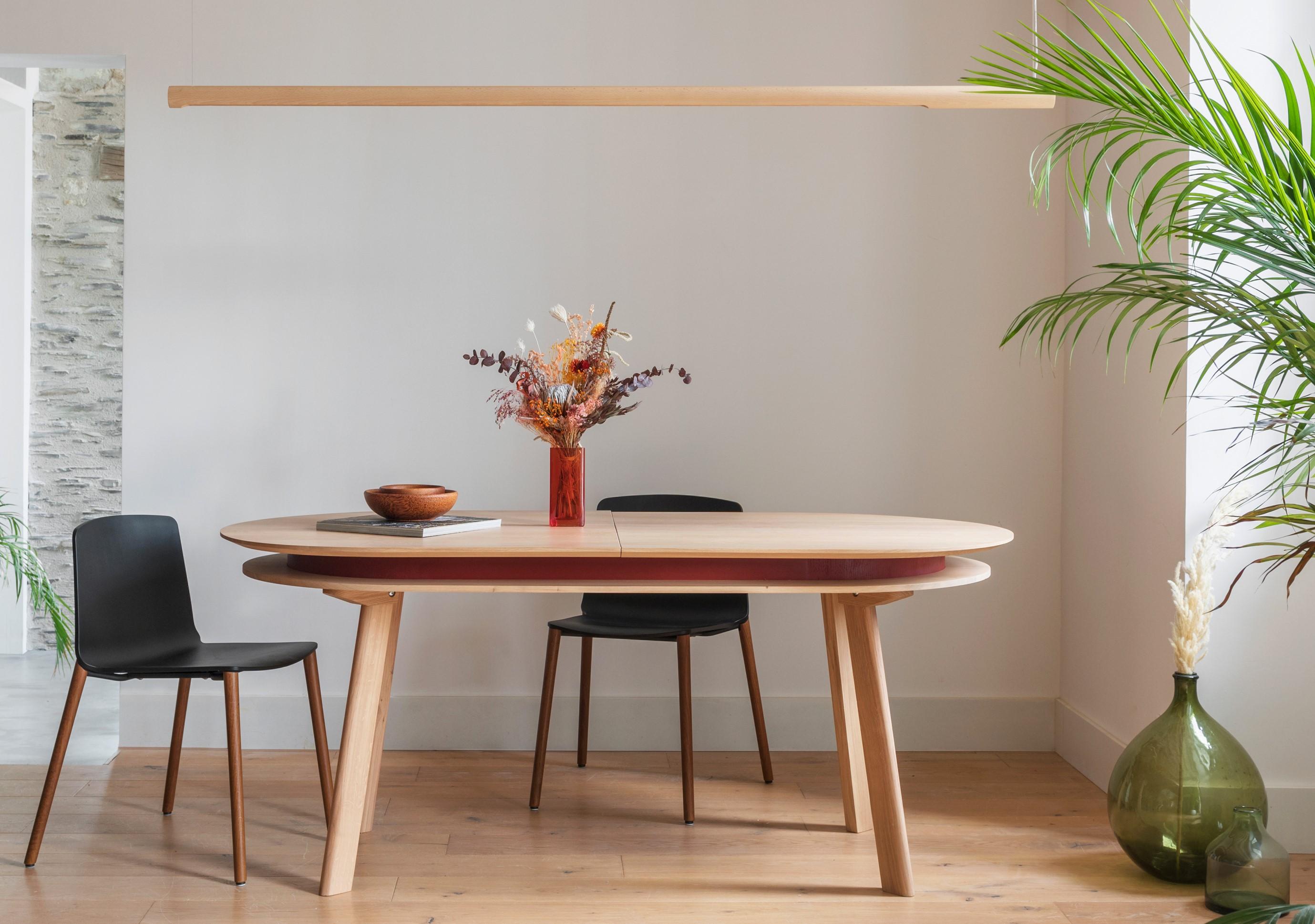 table ovale extensible parati l inatelier design artisanat francais