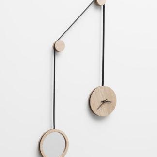 Horloge-miroir_pendule_drugeot manufacture_l'Inatelier_déco_intérieur_accessoire_made in france_chene massif_anjou_objet design_ nantes_boutique déco_bleu marine