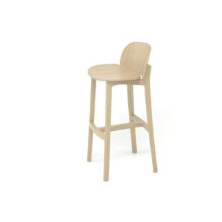 chaise-de-bar-lanas-BOSC-les landes-L'INATELIER- fabrication française-ebenisterie-savoir faire-chêne-bois-tapissé-tabouret-chaise haute-cuisine- décoration-made in france-nantes-déco