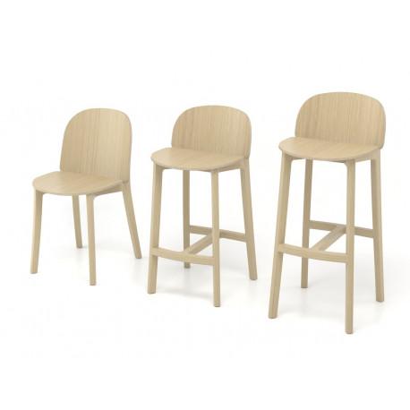 chaise-de-bar-lanas-BOSC-les landes-L'INATELIER- fabrication française-ebenisterie-savoir faire-chêne-bois-tapissé-tabouret-chaise haute-cuisine- décoration-made in france-nantes-déco-chaise de table- salle à manger-meuble-mobilier-face