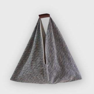 sac cabas origami- Heloise Levieux- Motifs japonais - coton - L'Inatelier - Nantes - déco - tissu - sac-à-main - création française -made in france- anse cuir