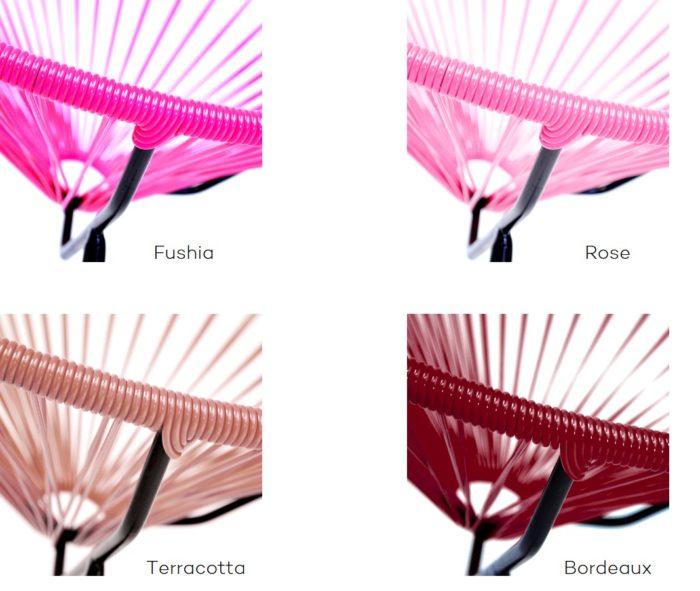 Fauteuil acapulco_exterieur_boqa_polyvinyl_déco_terrasse_jardin_nantes_L'Inatelier_couleur_Rose_rouge_terracotta