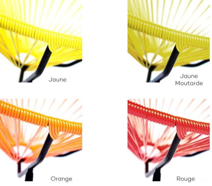 Fauteuil acapulco_exterieur_boqa_polyvinyl_déco_terrasse_jardin_nantes_L'Inatelier_couleur_jaune_orange_rouge