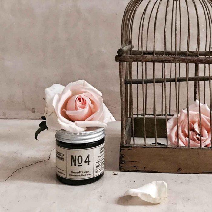 crème main naturelle_les choses simples_made in france_verre ambré_ingrédients naturels_pot crème_L'Inatelier_Nantes_beauté_cosmétique_Fleur d'oranger_2