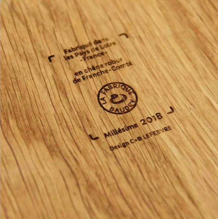 la bouteille -planche - Le regal - bois - linatelier - made in france - design