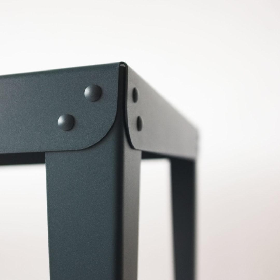 Table métal – Batilde - Blanc - Gaelle Pinel_nantes_l'Inatelier_made in france_artisanat contemporain_fait main_décoration_intérieur_l'Inatelier_Rennes