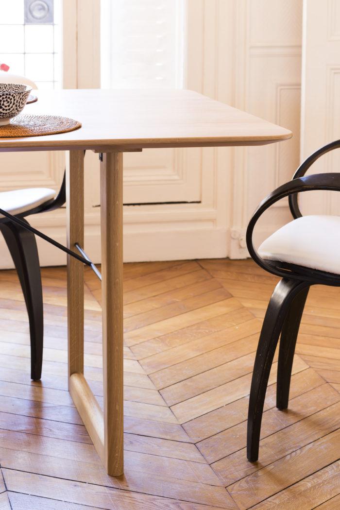 Table Cloe _ L'Inatelier Nantes_chene massif_made in france_artisanat_bois_rangement_tiroir_décoration_meuble_fabrication française_by Cactus_