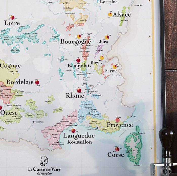 Affiche_carte-vins-france-zoom__Régions viticoles_vignobles_map_décoration_poster_nantes_L'Inatelier_50x70_détail