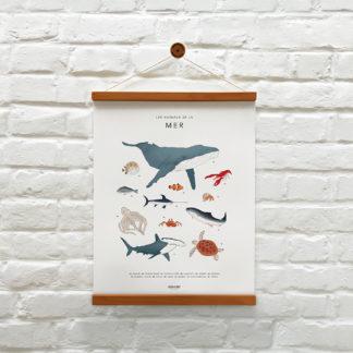 memoryAffiches-animaux_de-la-mer_enfant_chambre_jeux_ludique_madeinfrance_nantes_L'Inatelier_poster_dessin_poisson_requin_crabe_baleine_40x50cm