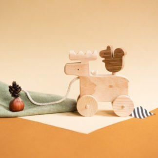 Alphi et nuti_jeu-bois-jouet-animaux-élan-écureuil-roulette-made-in-france-nantes-L'Inatelier