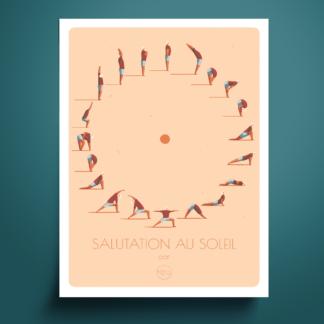 Affiche_salutation-au-soleil_illustration_atelier Lugus_yoga_méditation_décoration_nantes_L'Inatelier_déco_intérieur