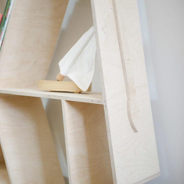 Bibliotheque elephant en bois pour enfant