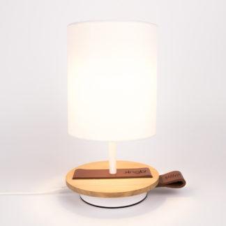 LAMPE-de chevet-CHANDELIER-BLANCHE-KNGB-creation-design-luminaire-made-in-france-artisanat-français-pièce-numérotée-bois-massif-cuir-coton-chambre-décoration-linatelier-nantes-boutique-décoration-intérieur-lumière-contemporain-écoresponsable-FACE-2