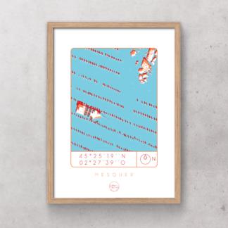 Affiche-mesquer_Atelier_Lugus_plongeoir_sérgraphie_série limitée_décoration_art_tableau_intérieur_nantes_made-in-france_bon-secours_cadre_idée-cadeau_géographie_gps_vue-du-ciel
