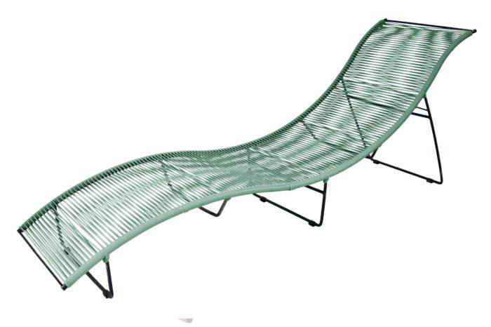 Transat-Leon-Vert sauje_exterieur_mobilier-de-jardin_BOQA_PVC_pied-métal_couleur_made-in-france_linatelier_bain-de-soleil_nantes_été_summer_outdoor_confortable_mémoire-de-forme